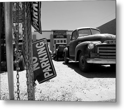 Vintage Parking Metal Print by Paul Foutz