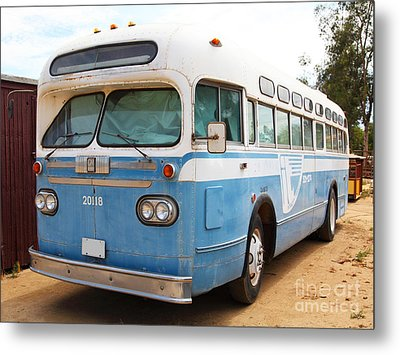 Vintage Passenger Bus 5d28384 Metal Print by Wingsdomain Art and Photography