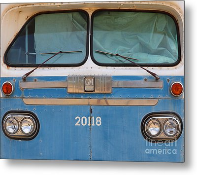 Vintage Passenger Bus 5d28398 Metal Print by Wingsdomain Art and Photography
