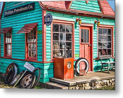 Vintage Phillips 66 Gas Metal Print by Steven Bateson