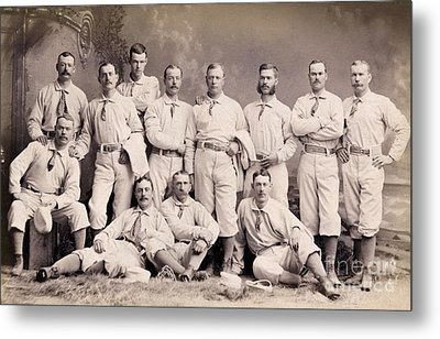 New York Metropolitans Baseball Team Of 1882 Metal Print by Jon Neidert
