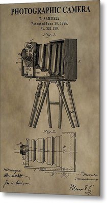 Vintage Photographic Camera Patent Metal Print by Dan Sproul