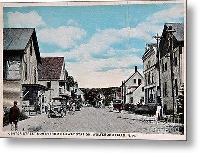 Vintage Postcard Of Wolfeboro New Hampshire Art Prints Metal Print by Valerie Garner