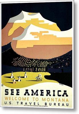 Vintage Poster - Montana Metal Print by Benjamin Yeager