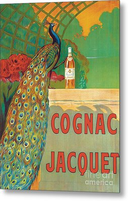 Vintage Poster Advertising Cognac Metal Print