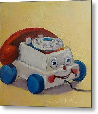 Vintage Pull Toy Series Phone Metal Print by Kelley Smith