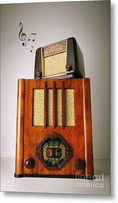 Vintage Radios Metal Print by Carlos Caetano