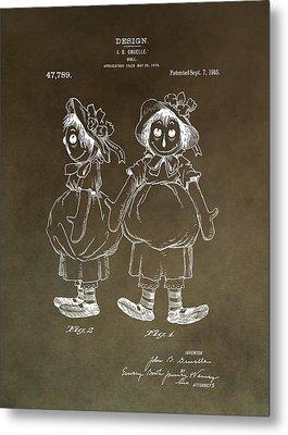 Vintage Raggedy Ann Patent Metal Print