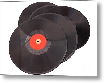Vintage Records Metal Print