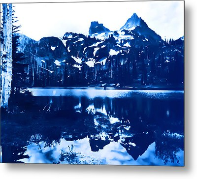 Metal Print featuring the photograph Vintage Reflection Lake  With Ripples Early 1900 Era... by Eddie Eastwood