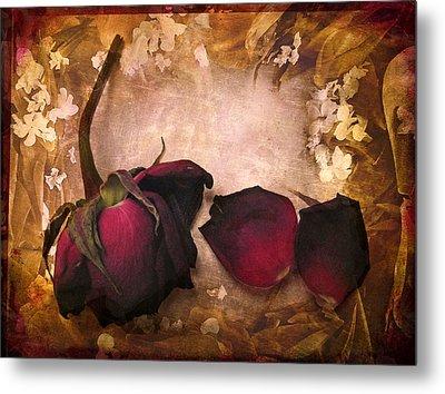 Vintage Rose Petals Metal Print by Jessica Jenney