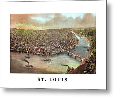 Vintage Saint Louis Missouri Metal Print