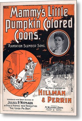 Vintage Sheet Music Cover Circa 1896 Metal Print by M Witmmark and Sons