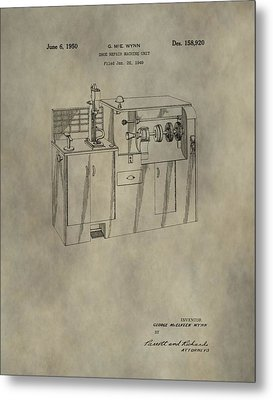 Vintage Shoe Repair Machine Patent Metal Print by Dan Sproul