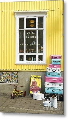 Vintage Shop In Akureyri Iceland Metal Print