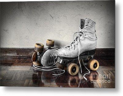 Vintage Skates Metal Print by Carlos Caetano