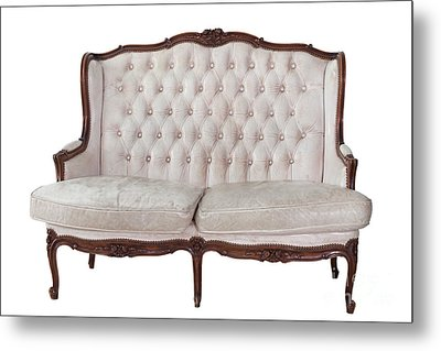 Vintage Sofa In Isolated Background  Metal Print