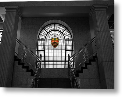 Vintage Stained Glass 2 Metal Print by Andrew Fare