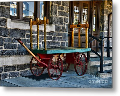Vintage Train Baggage Wagon Metal Print by Paul Ward