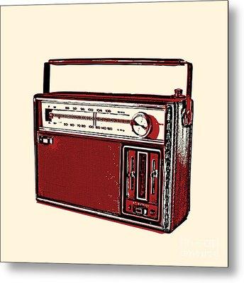 Vintage Transistor Radio Metal Print