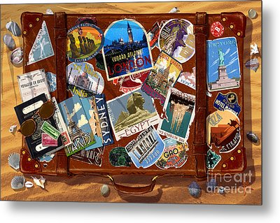 Vintage Travel Case Metal Print by Garry Walton