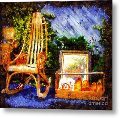 Vintage Treasures Milford Metal Print by Janine Riley
