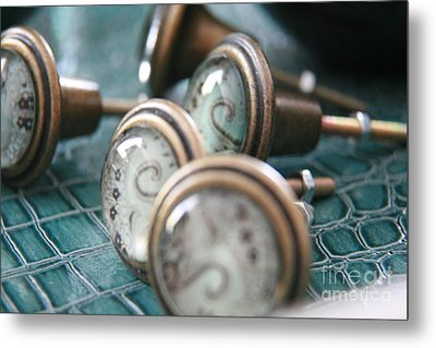 Metal Print featuring the photograph Vintage Turquoise  by Lynn England