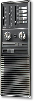 Vintage Tv Control Panel Metal Print by Allan Swart