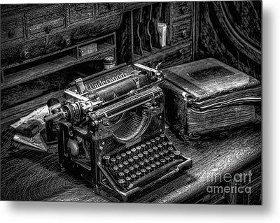 Vintage Typewriter Metal Print by Adrian Evans