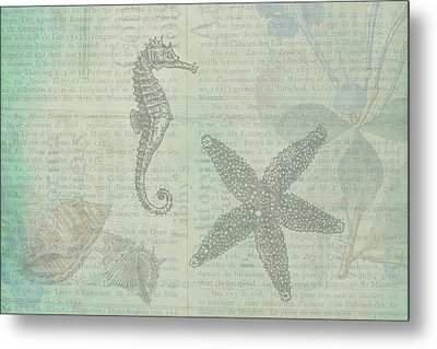 Vintage Under The Sea Metal Print