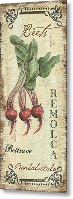 Vintage Vegetables 3 Metal Print by Debbie DeWitt