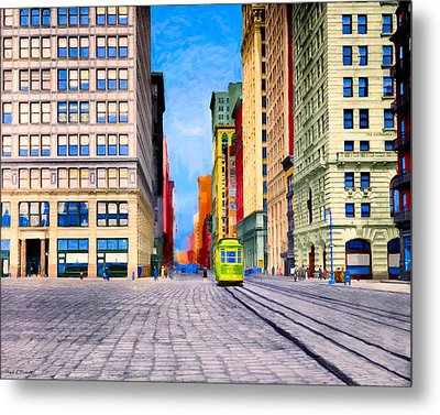 Vintage View Of New York City - Union Square Metal Print by Mark E Tisdale