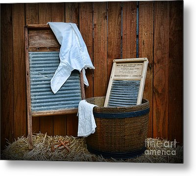 Vintage Washboard Laundry Day Metal Print by Paul Ward