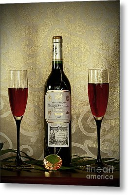 Vintage Wine Lovers Metal Print by Inspired Nature Photography Fine Art Photography