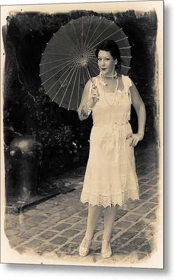Metal Print featuring the photograph Vintage Woman by Jim Poulos