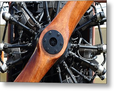 Vintage Wood Propeller - 7d15828 Metal Print by Wingsdomain Art and Photography
