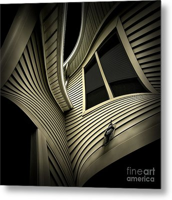 Vinyl Geometry Metal Print by Walt Foegelle
