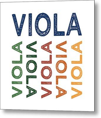 Viola Cute Colorful Metal Print
