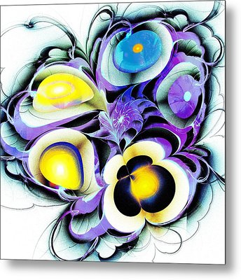 Viola Tricolor Metal Print by Anastasiya Malakhova