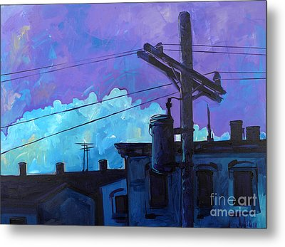 Violet And Purple Give Me The Blues Metal Print