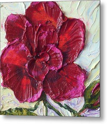 Violet Red Rose Metal Print by Paris Wyatt Llanso