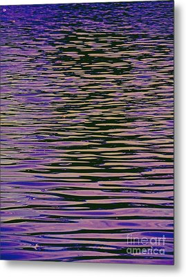 Metal Print featuring the photograph Violet Ripples by Andy Heavens