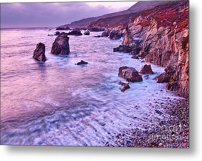 Violet Tides - Rocky Coast From Soberanes Point In Garrapata State  Metal Print by Jamie Pham