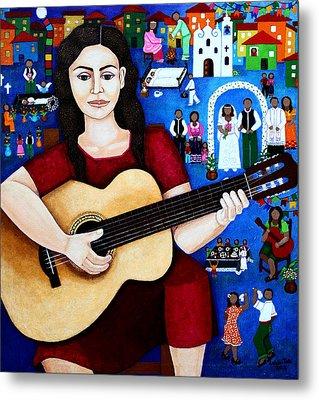 Violeta Parra And The Song Black Wedding Metal Print by Madalena Lobao-Tello