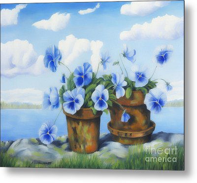 Violets On The Beach Metal Print by Veikko Suikkanen