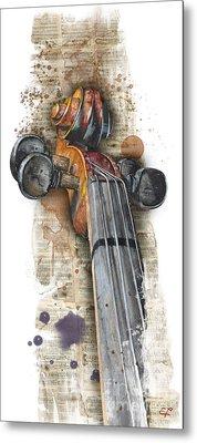 Violin 01 Elena Yakubovich Metal Print by Elena Yakubovich