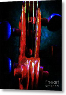 Violin 2 - V1 Metal Print by Wingsdomain Art and Photography