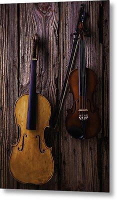 Violin And Viola Metal Print by Garry Gay