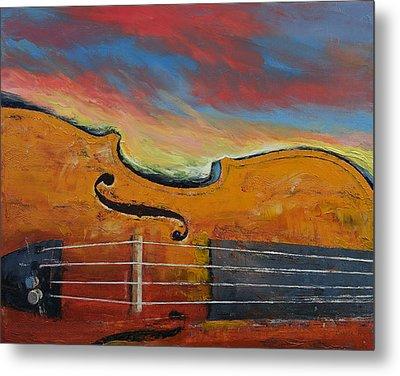 Violin Metal Print by Michael Creese