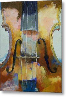 Violin Painting Metal Print